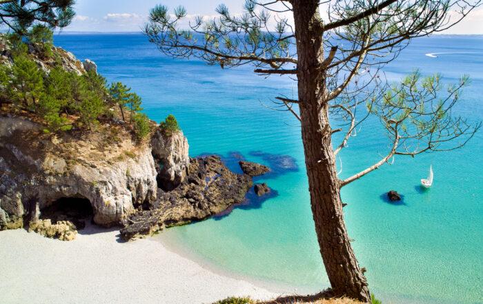 La plage de l'Ile Vierge à Crozon en Bretagne